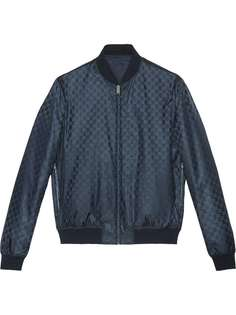 двухсторонняя жаккардовая куртка-бомбер 'GG' Gucci