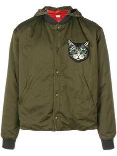 куртка-бомбер с принтом Gucci