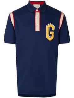 футболка-поло с вышитым логотипом Gucci