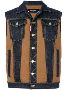 джинсовая жилетка с панельным дизайном Dsquared2