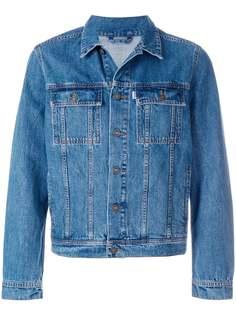 джинсовая куртка с вышитым тигром Kenzo