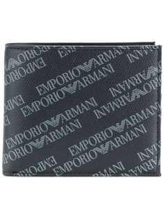 складной кошелек с логотипом Emporio Armani