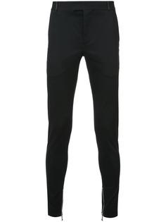 брюки с молниями снизу на штанинах Balmain