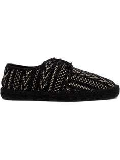 эспадрильи на шнуровке с вышивкой Saint Laurent