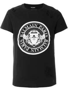 футболка с принтом логотипа Balmain