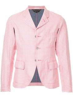 укороченная облегающая куртка в клетку Comme Des Garçons Vintage