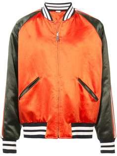 сатиновая куртка-бомбер Gucci