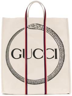 сумка-тоут с принтом Gucci Ouroboros Gucci
