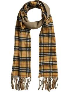удлиненный двухсторонний шарф в винтажную клетку Burberry