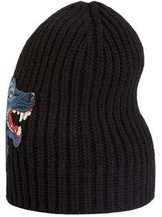шапка с изображением волка Gucci