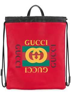 рюкзак с принтом логотипа Gucci