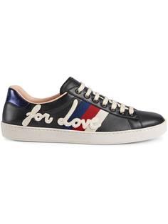 кроссовки с вышивкой 'Ace' Gucci