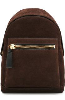 Замшевый рюкзак Buckley с внешним карманом на молнии Tom Ford