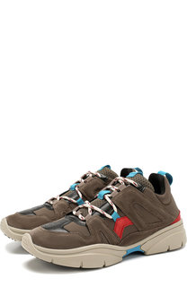 Комбинированные кроссовки Kindsay на шнуровке Isabel Marant