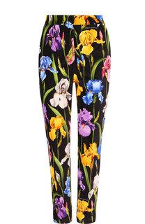 Укороченные хлопковые брюки с принтом Dolce & Gabbana