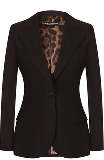 Приталенный шерстяной жакет Dolce & Gabbana