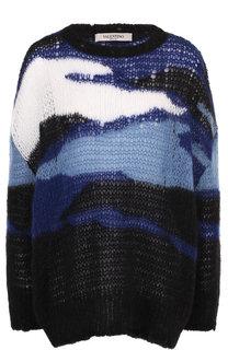 Вязаный пуловер свободного кроя с круглым вырезом Valentino