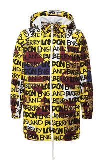 Удлиненная куртка Castleton PR на молнии с капюшоном Burberry