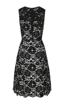 Кружевное платье с круглым вырезом DKNY