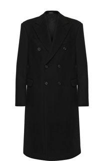 Двубортное пальто из шерсти Alexander McQueen