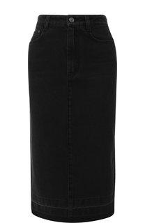Джинсовая юбка с потертостями Givenchy