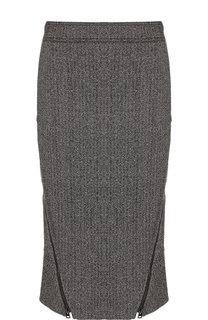Юбка-карандаш из смеси шерсти и шелка Tom Ford
