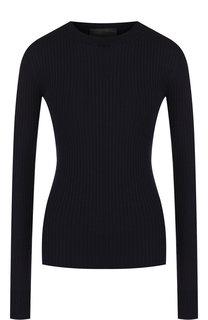 Шерстяной пуловер с круглым вырезом Erika Cavallini