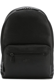 Кожаный рюкзак с внешним карманом на молнии Polo Ralph Lauren