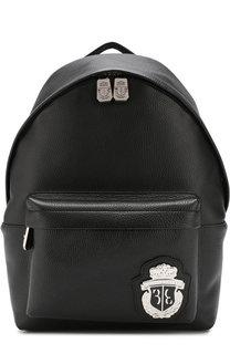 Кожаный рюкзак Jun с внешним карманом на молнии Billionaire