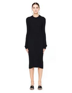 Трикотажное шерстяное платье Maison Margiela