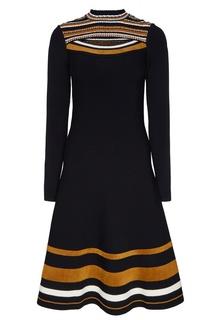 Платье-миди с контрастной отделкой Proenza Schouler