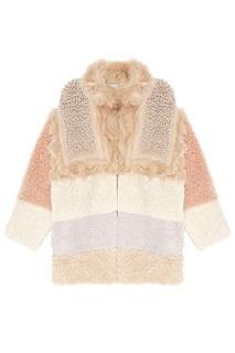 Комбинированное пальто с мехом Stella Mc Cartney