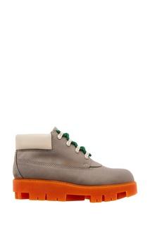 Серые ботинки с цветной подошвой Acne Studios