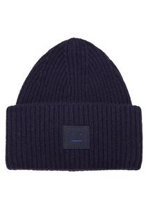 Синяя шерстяная шапка Acne Studios