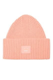 Розовая шерстяная шапка Acne Studios