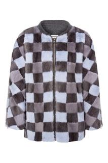 Меховая куртка в клетку Color Temperature