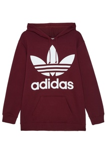 Бордовое худи Adidas