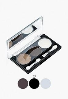 Набор для макияжа бровей Rimalan Тон 03 searing brunette, 9 гр.
