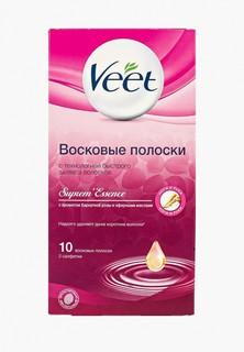 Полоски для депиляции Veet с ароматом бархатной розы и эфирными маслами, 10 шт