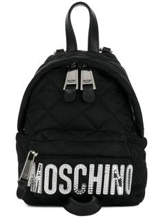 миниатюрный стеганый рюкзак с логотипом Moschino