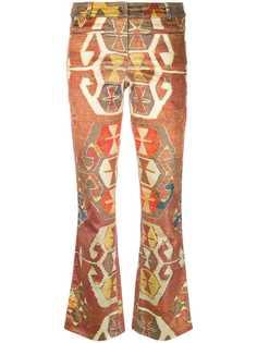 брюки с геометрическим ппринтом Christian Dior Vintage