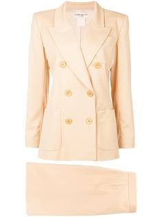 двубортный костюм с юбкой Yves Saint Laurent Vintage