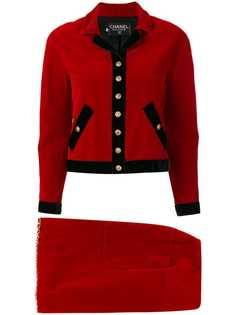 приталенный костюм с юбкой Chanel Vintage