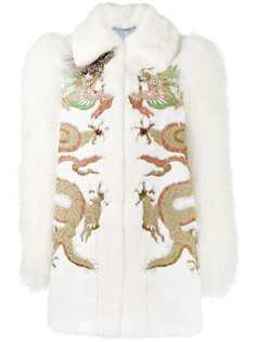 норковая шуба с вышивкой Gucci