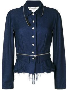 пиджак с рваной отделкой Christian Dior Vintage