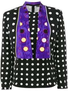 жакет с блузкой в горох Versace Vintage