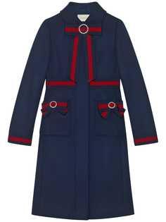 пальто с бантами Gucci