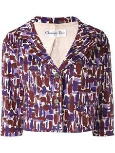 укороченный пиджак с принтом Christian Dior Vintage