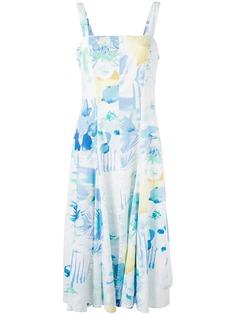 платье миди с принтом Louis Feraud Vintage