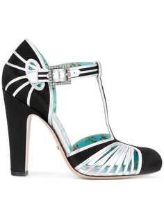 туфли с Т-образным ремешком Gucci